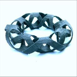 interlaced bangles  more http://www.3d-fabric-jean-pierre.com/