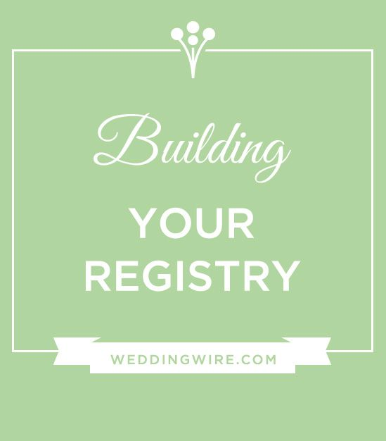 25 best ideas about wedding gift registry on pinterest for Best wedding registry places