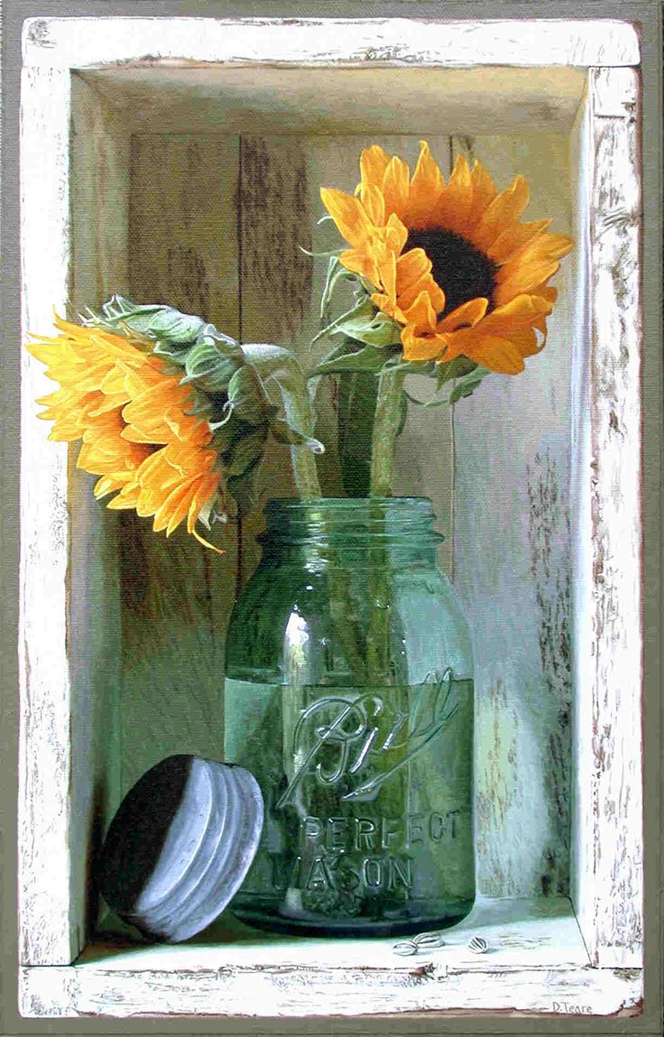 I just bought three old green Mason Jars with old silver lids...i will do this with flowers in the kitchen