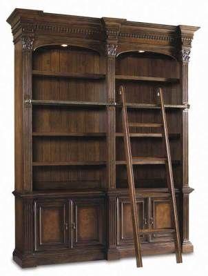 Victorian trading Co. - www.victoriantradingco.com - English Bookseller Shelves & Sliding Ladder ($500-5000) - Svpply