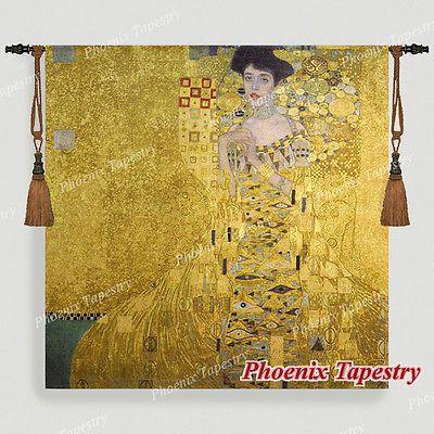"""140 x 140cm Wandbehang Wandteppich """"Portait Adele Bloch-Bauer I"""" - Gustav Klimt"""