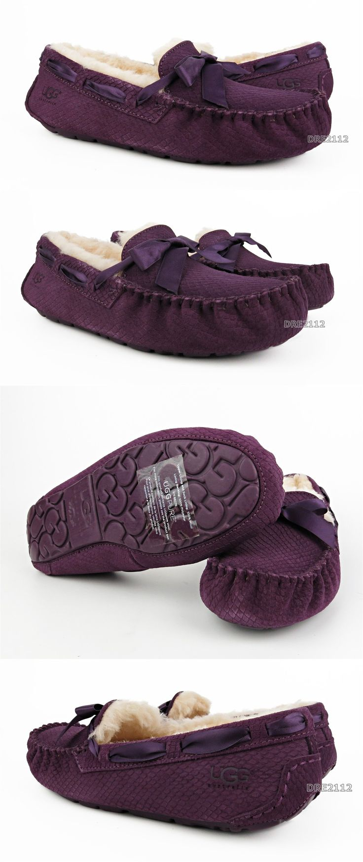 Slippers 11632: Ugg Australia Dakota Exotic Scales Anemone Purple Slippers Womens Size 8 *Nib* -> BUY IT NOW ONLY: $69.95 on eBay!