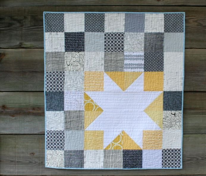 6 Free Charm Pack Quilt Patterns to Stitch Up: charm pack idea for my modern quilt guild exchange