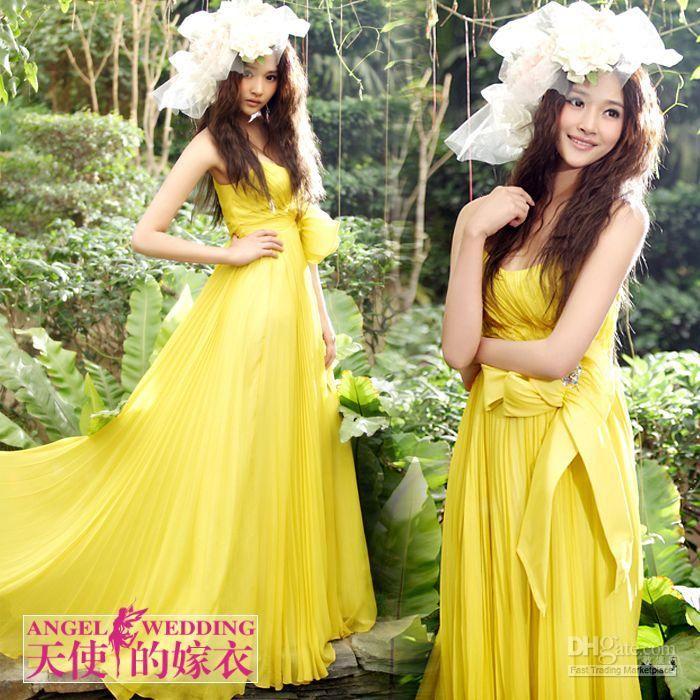 Yellow wedding dress search