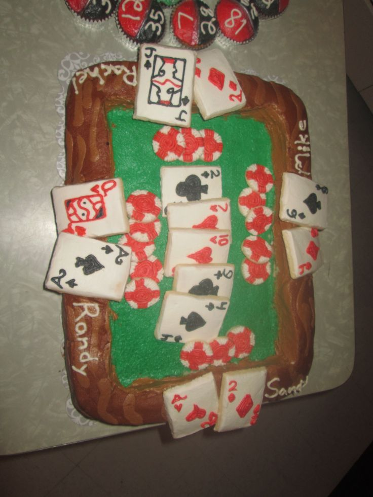 Poker Table Cake, created by Dusty's Cakes & Cupcakes. Available for work in the New England area. dustysantos3d@yahoo.com