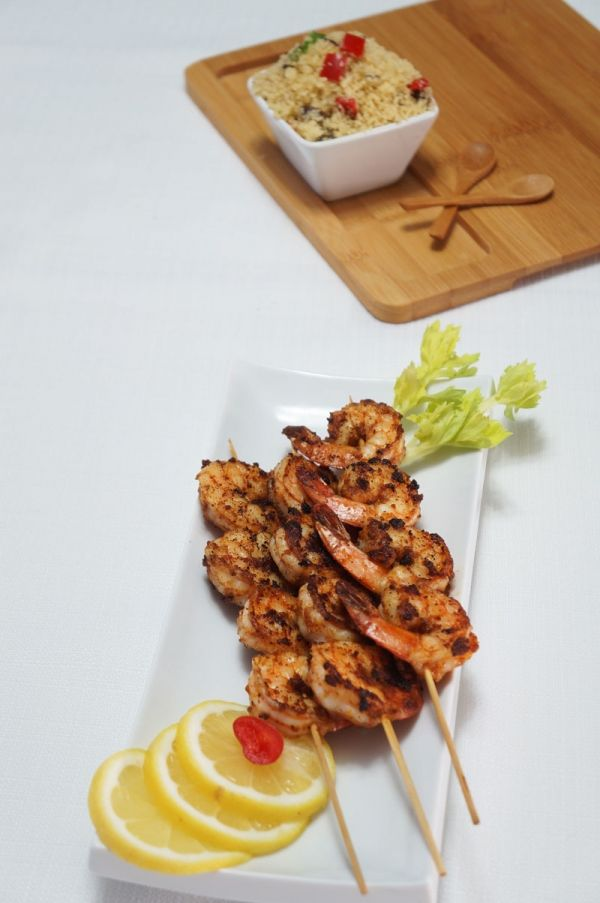 Spicy Coconut Suya Prawns - Can't go wrong with suya spice! Visit the website for recipe! :D