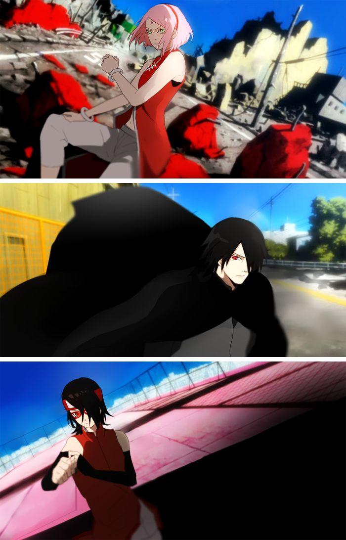 Sakura, Sasuke, and Sarada