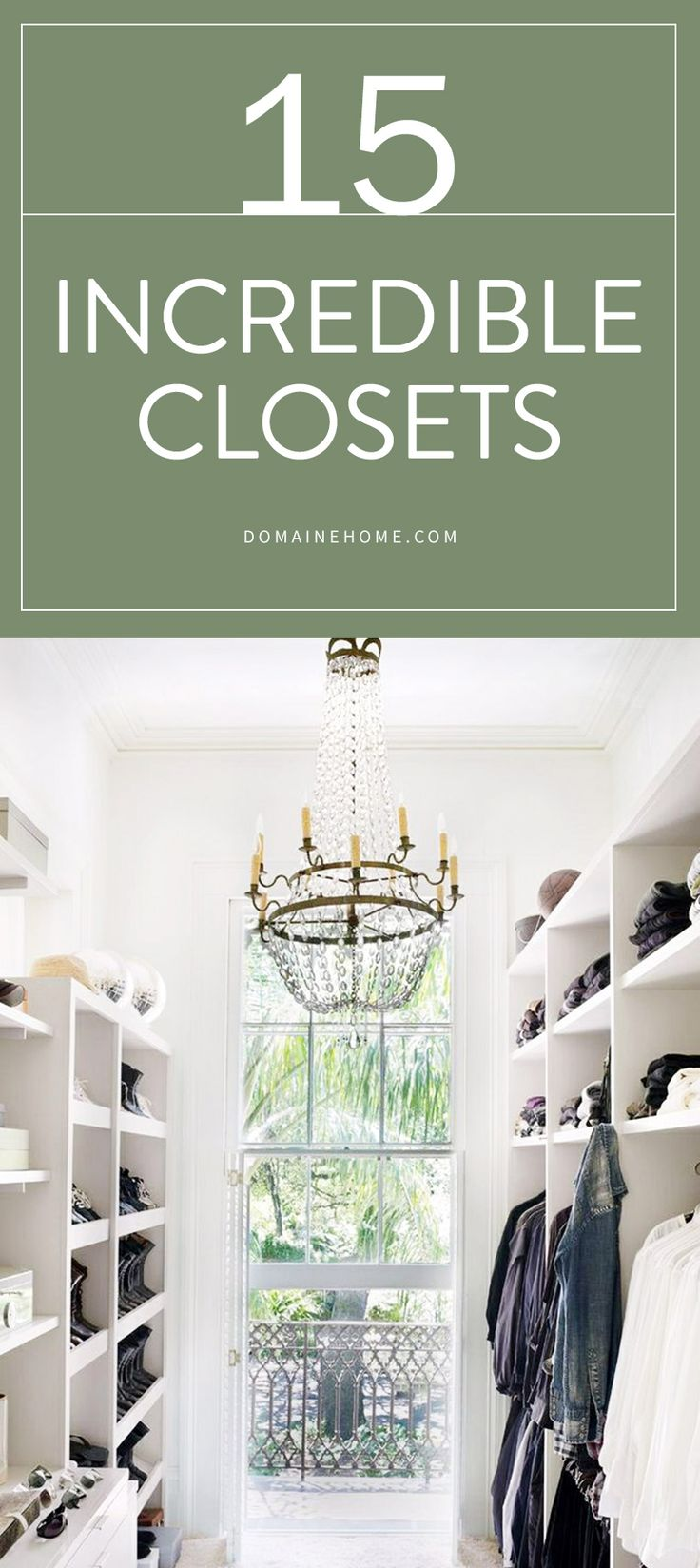 The most luxurious dream closets with stunning interior design AND organization.