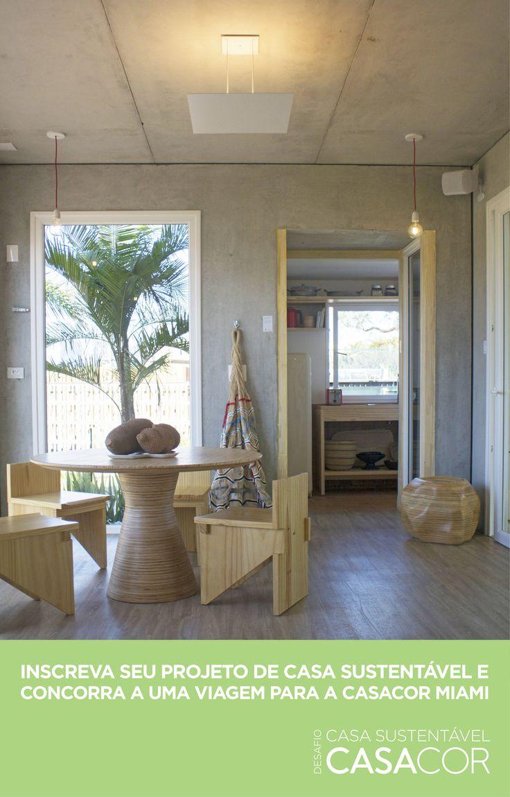 """Crie um projeto de arquitetura e design de interiores para o espaço """"Casa Sustentável"""" na mostra CASACOR São Paulo 2018 e concorra a uma viagem com acompanhante para visitar a CASACOR Miami."""