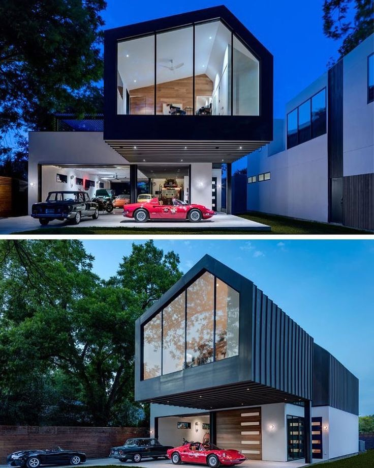 Matt Fajkus Architecture have recently completed the #design of a new house in #Austin #Texas that features a huge #car showroom / #garage and a large cantilever.  Charles Davis Smith