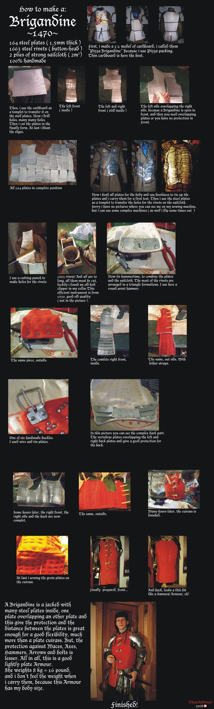 How to make a Brigandine by TheHolyWenzel.deviantart.com on @deviantART