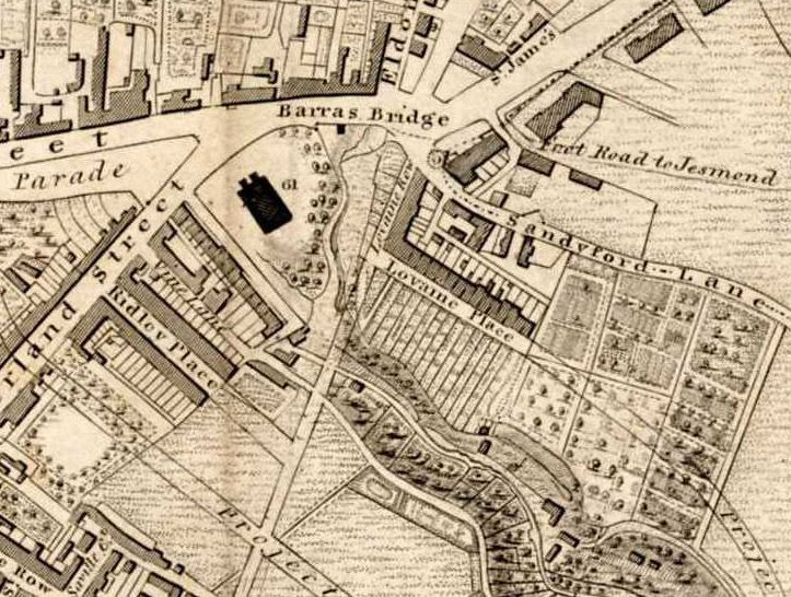 A map of part of Newcastle city centre, dating from 1833. This is now in the collection of the Laing Art Gallery.: Cities Centre, The Art, Newcastl Cities, Geordie Liek, Mighty Newcastl, Art Galleries, Gannin Geordie