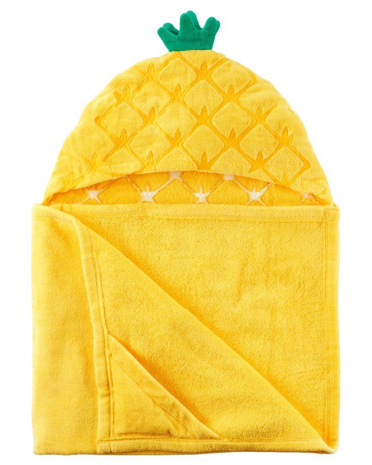 Baby Girl Pineapple Hooded Towel | Carters.com