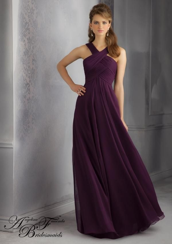Bridesmaid Dress - Criss/Cross design. 20434 Bridesmaids Dresses 20434 Luxe Chiffon Bridesmaid Dress