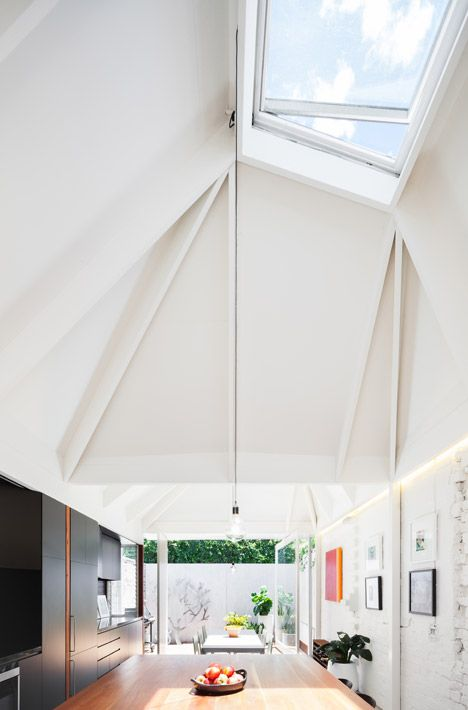 Light Cannon House by Carterwilliamson #Architects > Faceted ceilings direct sunlight into Sydney #home