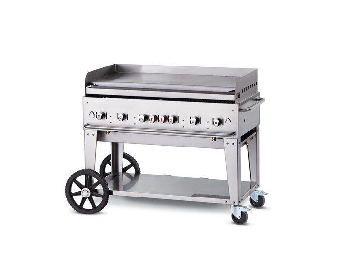 """48"""" Mobile Griddle - Pro Griddles - Crown Verity  Available in 30"""", 36"""", 48"""", 60"""" and 72"""""""