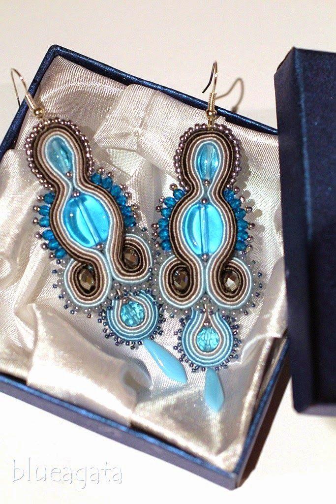 blueagata: 18th birthday soutache earrings