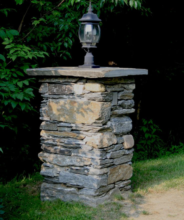 Driveway Pillar Lights : Best images about stone pillars on pinterest entry