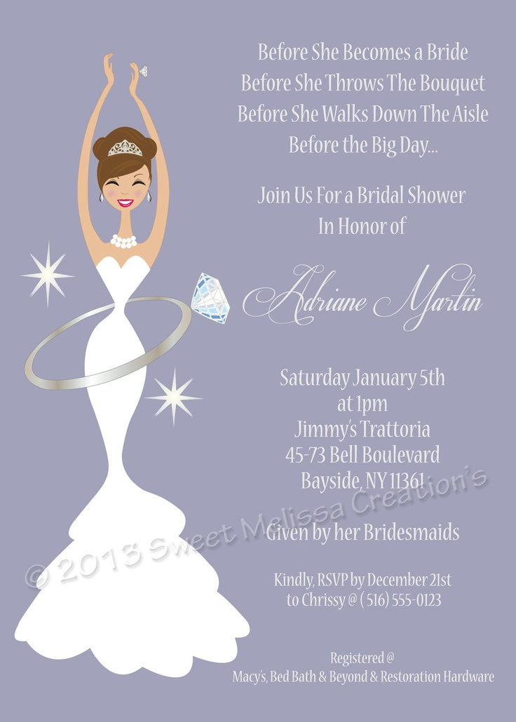 Diamond Wedding Ring Diva Diy Bridal Shower Invitation