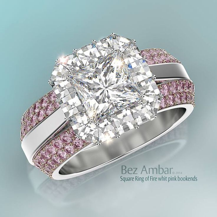 Bez Ambar's Ring of Fire with Blaze® diamonds and two pink sapphire ring…