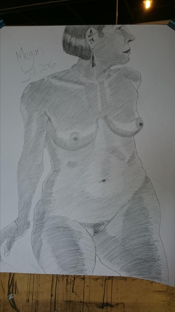 Life drawing image by artist Joe Virgato