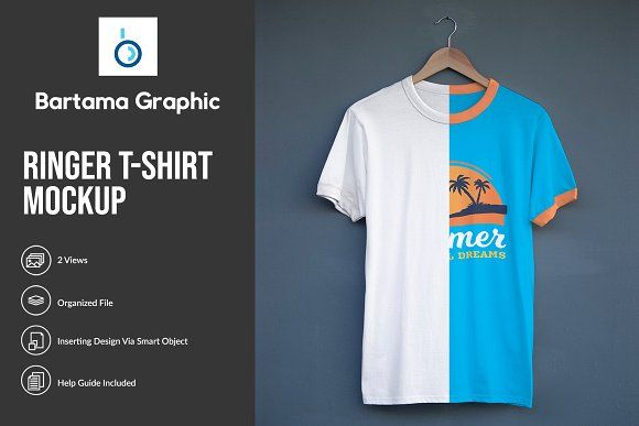 Download Ringer T Shirt Mockup Shirt Mockup Clothing Mockup Tshirt Mockup