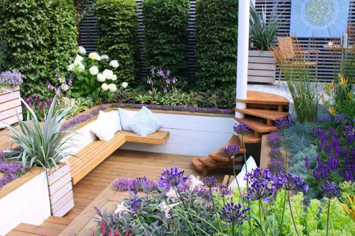 jardin paysager, aménagement créatif de petit jardin