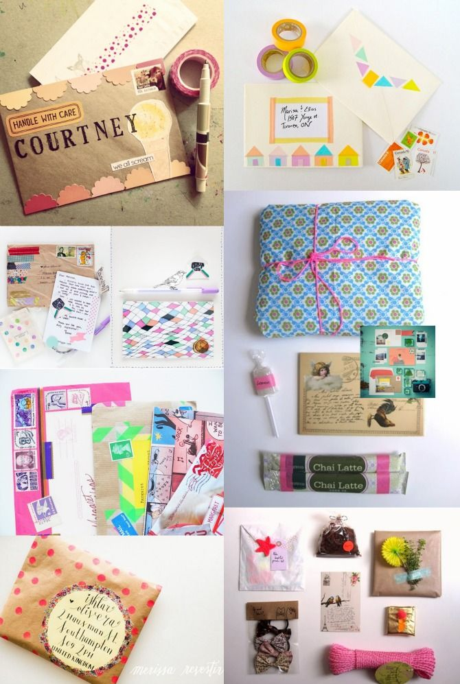 Today's blog post is all about penpals and packages / Happy Mail ideas