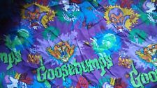 Vintage Goosebumps Monsters Twin Bed Flat Sheet Fabric 90s RL Stine Crafts in Home & Garden, Kids & Teens at Home, Bedding, Sheets   eBay