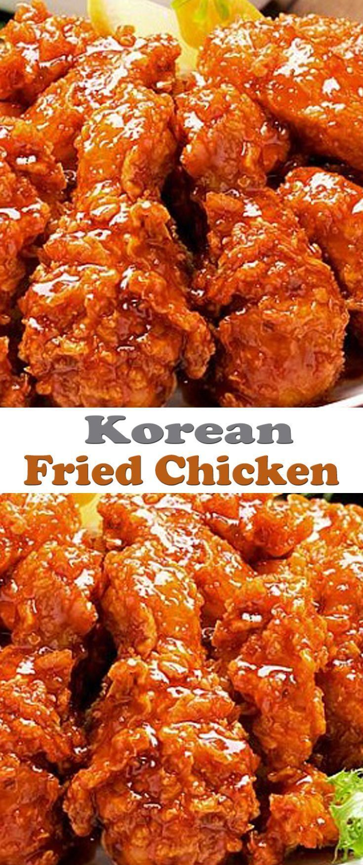 Korean Fried Chicken Recipe. #CompleteRecipes.com #recipe #recipes #food #foodgasm #cleaneating #healthyfood #healthy #healthyrecipes #koreanfoodrecipes