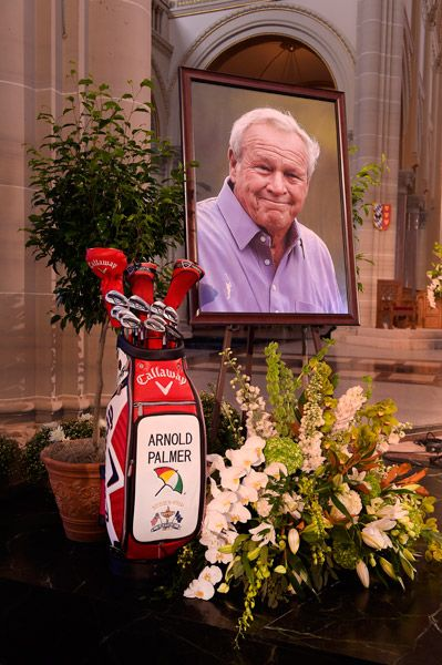 Arnold Palmer Memorial Service  Palmer, a golf legend who won 62 PGA Tour titles over the course of his 60-year career, died on September 25, 2016 at age 87.