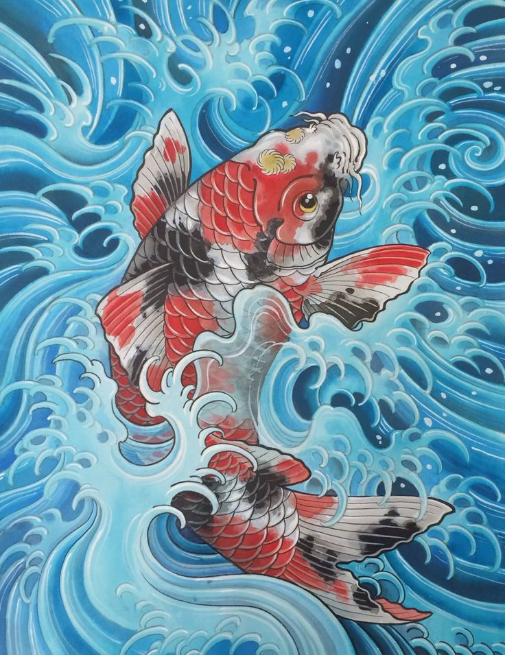 Koi fish by Chris Garver