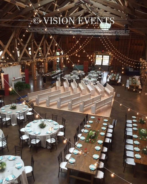 Barn Wedding Lighting Ideas: Pinehurst NC. Coordinated By Vision Events