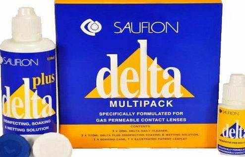 Sauflon Delta - 3 Month Pack - Specifically formulated for gas permeable contact lenses Sauflon Delta 3 Month Contact Lens Soaking And Wetting Solution For Hard Lenses (Barcode EAN = 0790295210702). http://www.comparestoreprices.co.uk/december-2016-week-1/sauflon-delta--3-month-pack--specifically-formulated-for-gas-permeable-contact-lenses.asp