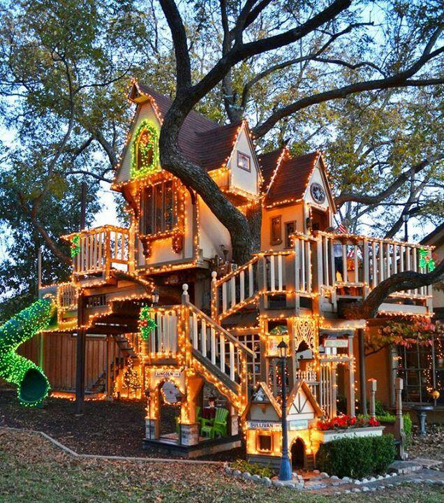 Treehouses interesting pinterest fantasy house for Treeless treehouse