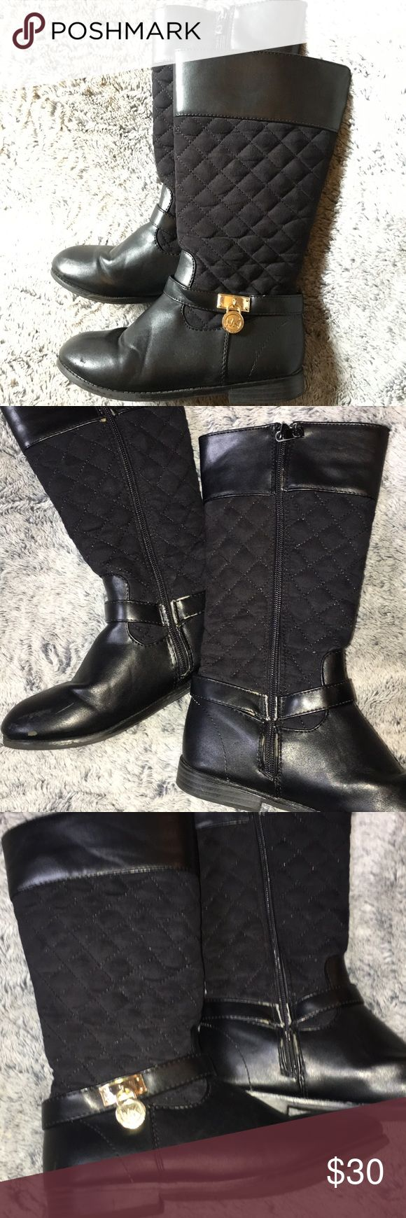 MK CHILDRENS BOOTS Tall Girls size 1 MK boots used condition still very cute & wearable !! MICHAEL Michael Kors Shoes Boots