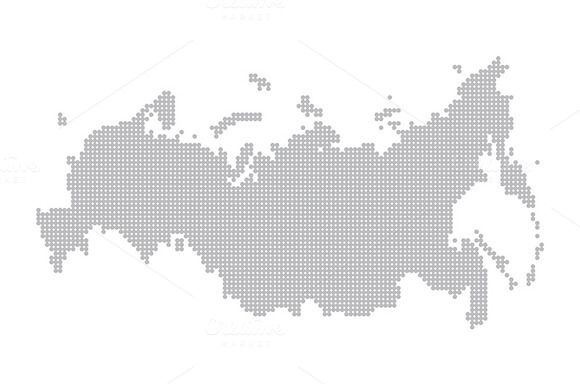 map of russia by Rommeo79 on @creativemarket