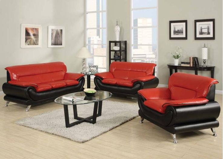 18 best Furniture images on Pinterest Small spaces, Dining room - red and black living room set