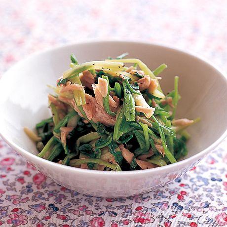 せりとツナのおひたし | 石原洋子さんのおつまみの料理レシピ | プロの簡単料理レシピはレタスクラブネット