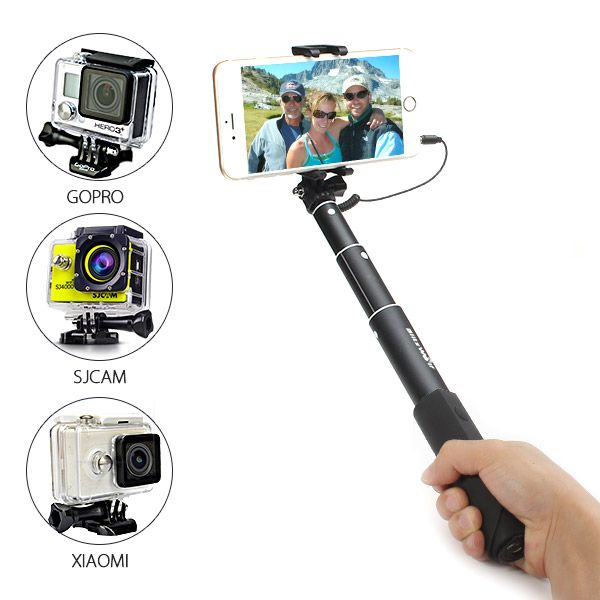 BlitzWolf® BW-BS1 Mini Extendable Wired Selfie Stick Monopod For iPhone 6 Samsung Galaxy Smartphone