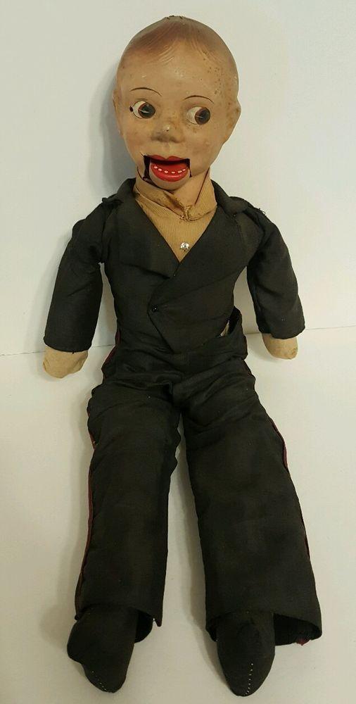 Spooky Dapper Dan Charlie McCarthy Composition Vintage Ventriloquist RARE   | eBay
