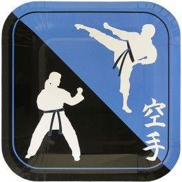 Karate Party Supplies, Karate Dinner Plates, Karate Tableware