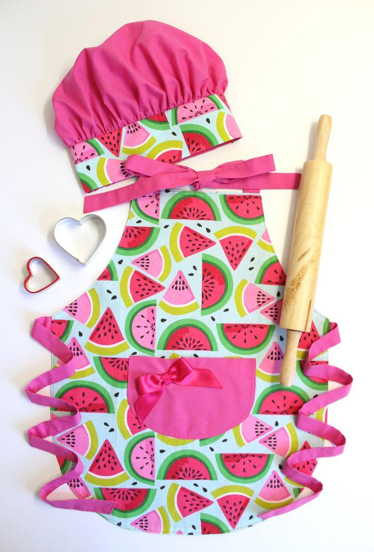 Gift For Kids, Kids Apron, Little Girl Gift, Childrens Aprons, Apron Set, Toddler Girl Apron, Kids Gift by LittleFoxSewsLots on Etsy