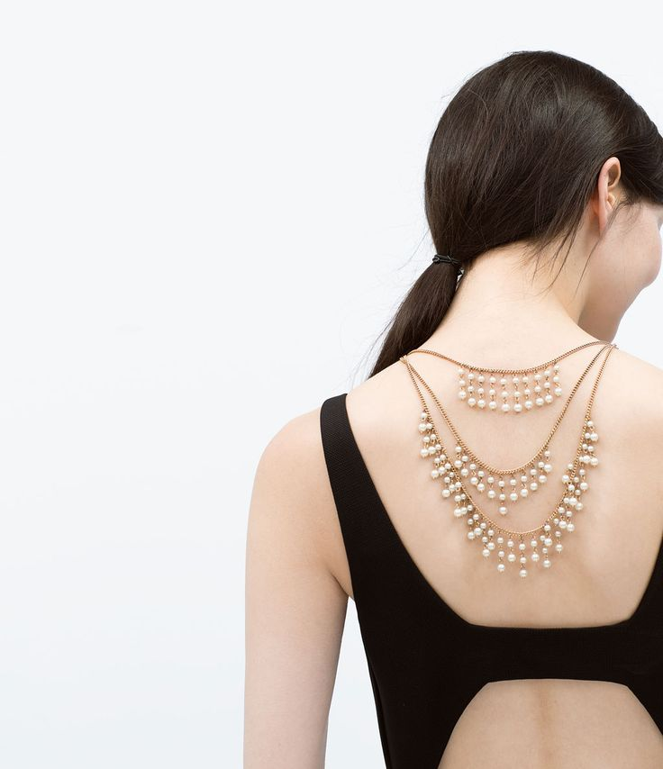 BACK NECKLACE WITH PEARLS-Jewellery-Accessories-WOMAN | ZARA United States
