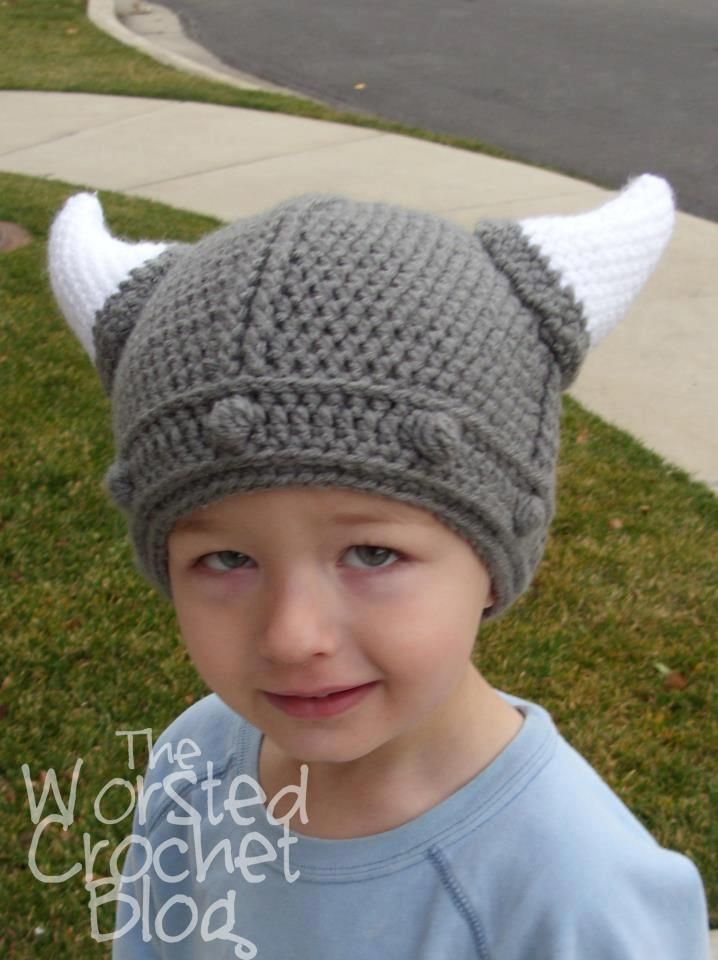 11 best viking hats images on Pinterest | Crochet hats, Beanies and ...