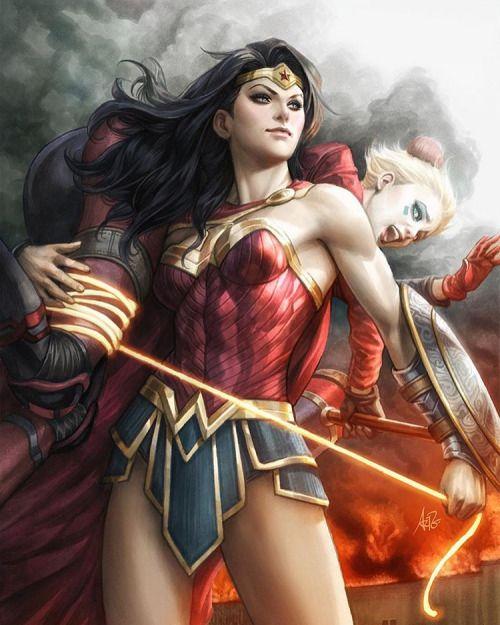 """ Wonder Woman & Harley Quinn by Artgerm"""
