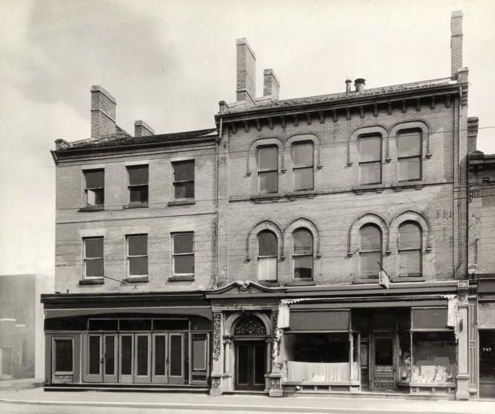 Yonge Street, southeast corner Collier Street.