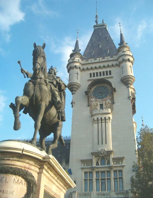 Statue of King Stephen the Great, The Palace of Culture in Iasi, Romania