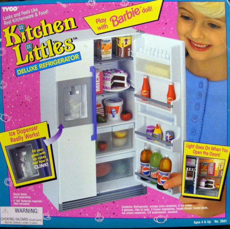 Dream Kitchen Toy Refrigerator: Barbie Kitchen Littles Deluxe Refrigerator