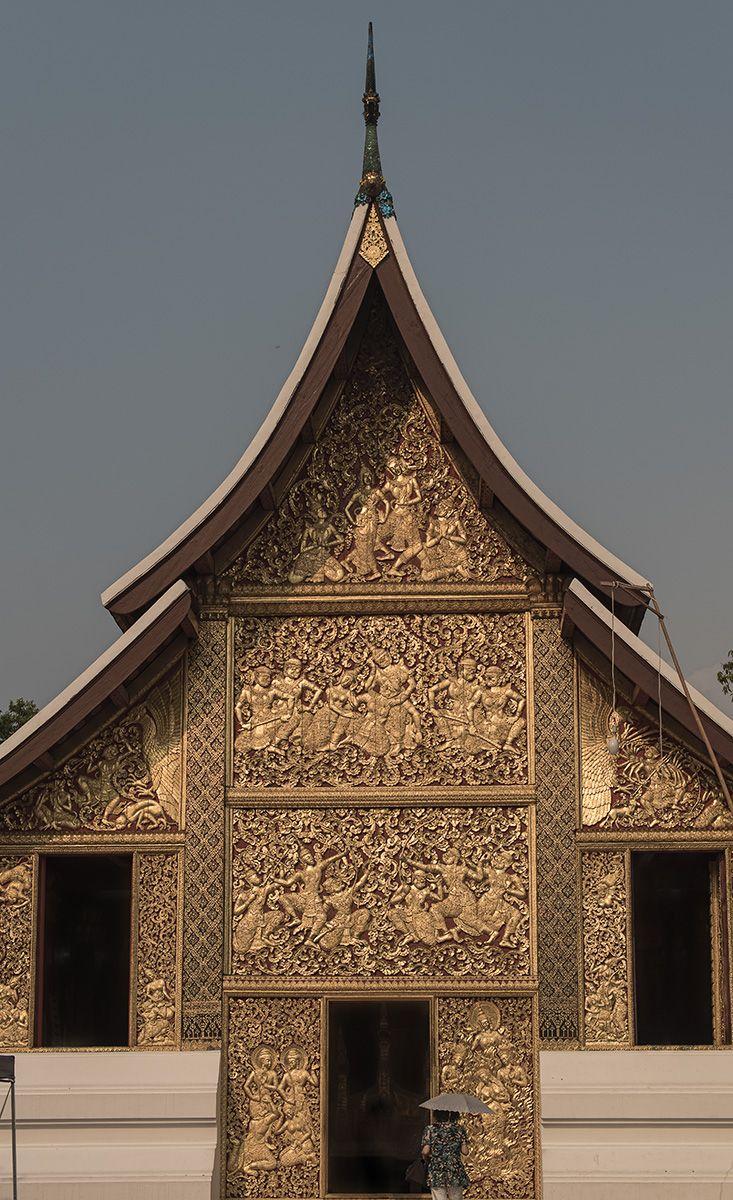 Храм Золотого города, Ват Сиенг Тхонг, ЛУанг Прабанг, Лаос. Golden City Temple Wat Xieng Thong, Luang Prabang, Laos
